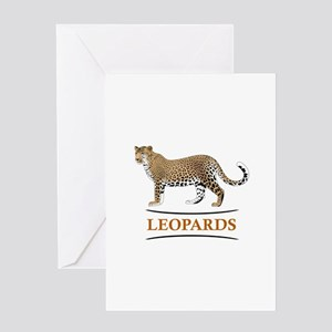 LEOPARDS Greeting Cards