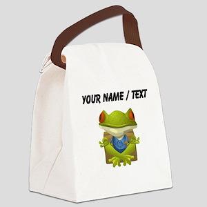 Custom Yoga Frog Canvas Lunch Bag