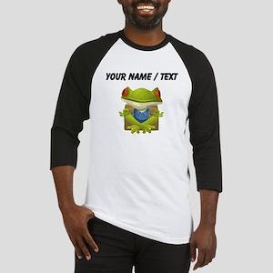 Custom Yoga Frog Baseball Jersey