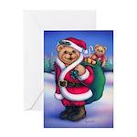 Santa Teddy Greeting Card