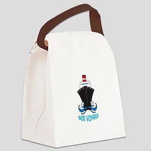 BON VOYAGE Canvas Lunch Bag