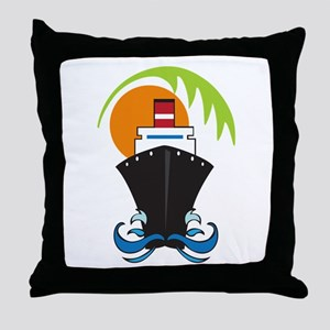 CARIBBEAN CRUISE Throw Pillow