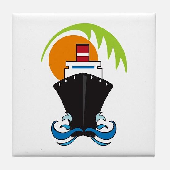 CARIBBEAN CRUISE Tile Coaster