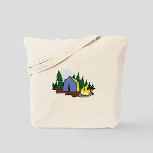 CAMPING SCENE Tote Bag