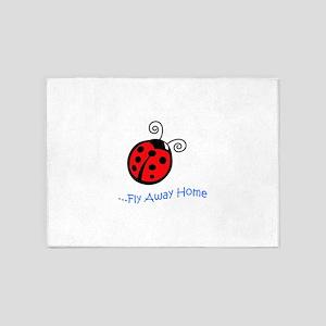 FLY AWAY HOME APP 5'x7'Area Rug
