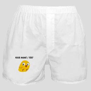 Custom Yellow Chick Boxer Shorts