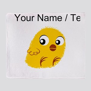 Custom Yellow Chick Throw Blanket