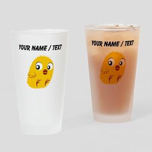Custom Yellow Chick Drinking Glass