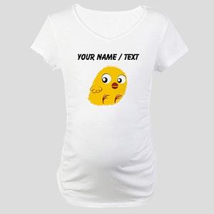 Custom Yellow Chick Maternity T-Shirt