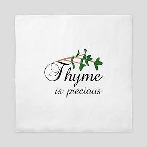 Thyme is precious Queen Duvet