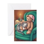 Miss B and Teddy Greeting Card