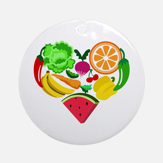 heart healthy foods Ornament (Round)