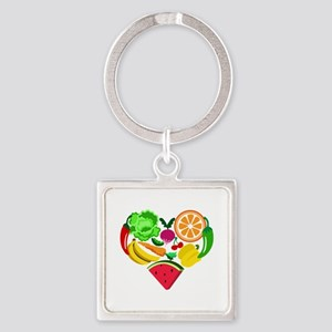 heart healthy foods Keychains