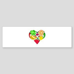 heart healthy foods Bumper Sticker