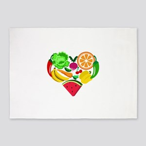 heart healthy foods 5'x7'Area Rug