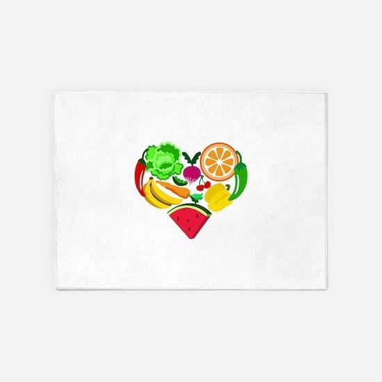 heart healthy foods 5'x7'Area Rug