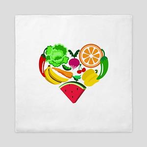 heart healthy foods Queen Duvet