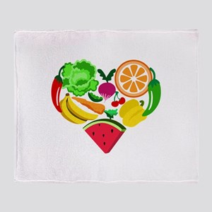 heart healthy foods Throw Blanket