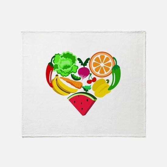 heart healthy foods Throw Blanket