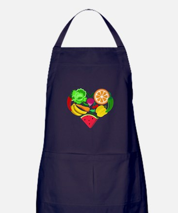 heart healthy foods Apron (dark)