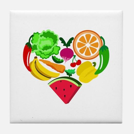 heart healthy foods Tile Coaster