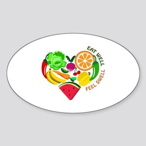 eat well feel swell Sticker