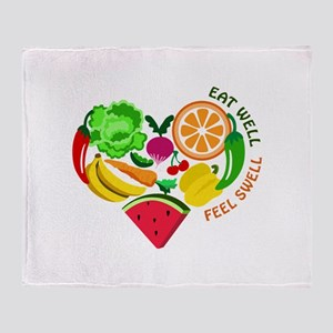eat well feel swell Throw Blanket
