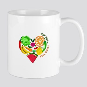eat well feel swell Mugs