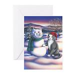 Snowcats Greeting Cards (Pk of 20)