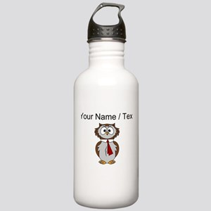 Custom Cartoon Owl Water Bottle