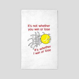 WIN OR LOSE TENNIS Area Rug