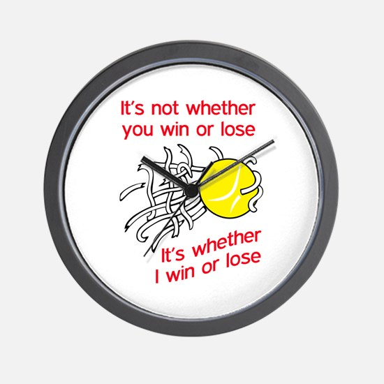 WIN OR LOSE TENNIS Wall Clock