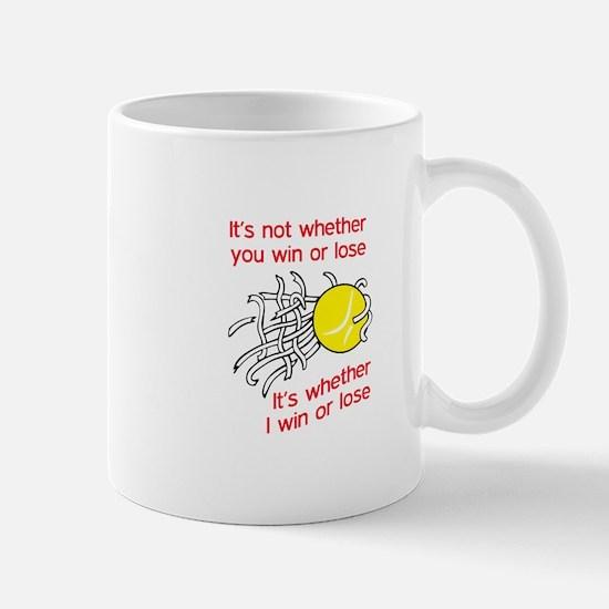 WIN OR LOSE TENNIS Mugs