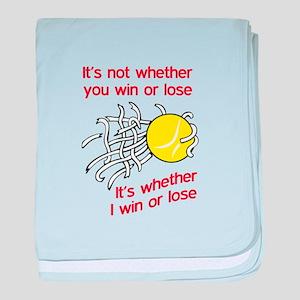 WIN OR LOSE TENNIS baby blanket