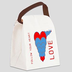 OYOOS Follow Your Heart design Canvas Lunch Bag