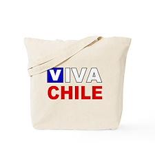 Viva Chile flag Tote Bag