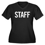 Staff (white) Women's Plus Size V-Neck Dark T-Shir