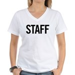 Staff (black) Women's V-Neck T-Shirt