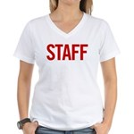 Staff (red) Women's V-Neck T-Shirt