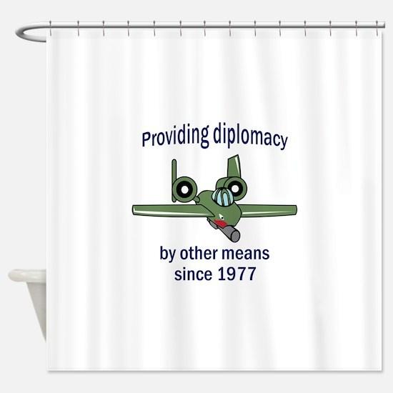 WARTHOG DIPLOMACY Shower Curtain