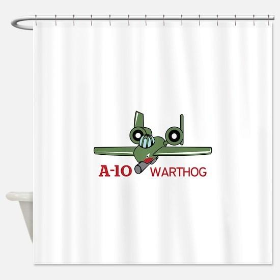 A TEN WARTHOG Shower Curtain