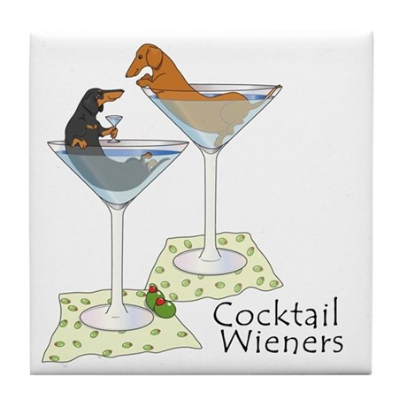 Cocktail Wieners (duo) Tile Coaster