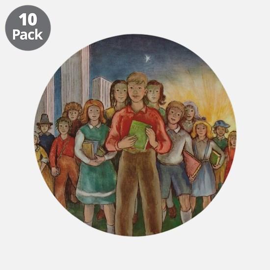 """1947 Children's Book Week 3.5"""" Button (10"""