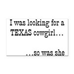 Texas Cowgirl Rectangle Car Magnet