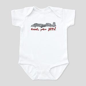 Cool Yer Jets - red Infant Bodysuit