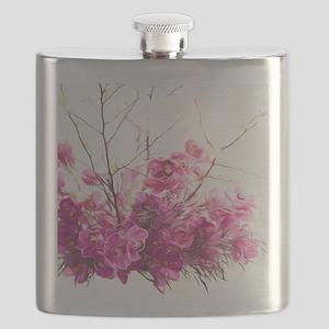Serene Pink Phalaenopsis Orchids Flask