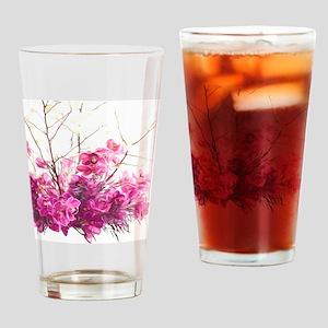 Serene Pink Phalaenopsis Orchids Drinking Glass