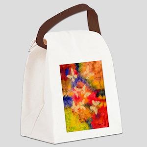 Butterfly Vestige Canvas Lunch Bag