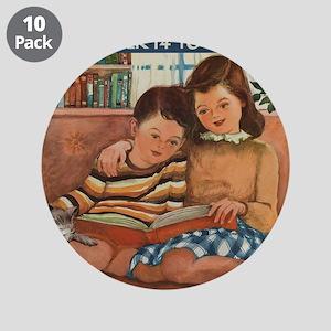 """1948 Children's Book Week 3.5"""" Button (10"""