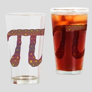Psy Pi - Psychedelic Pi Drinking Glass
